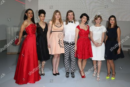 Stock Photo of Josephine Jobert, Aurelie Konate, Heloise Martin, Christophe Guillarme, Fabienne Carat, Annabelle Milot and Flavie Pean