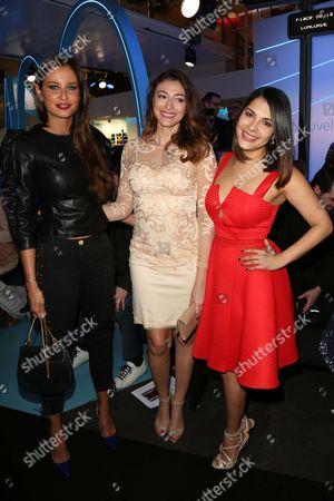 Stock Image of Malika Menard, Rachel Legrain-Trapani and Gyselle Soares
