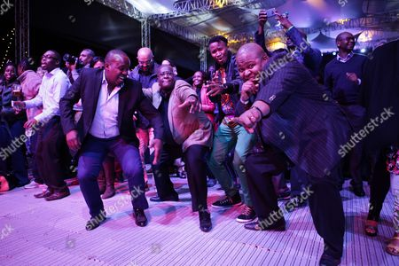 Kenyans Dance As South African Jazz Musician Hugh Masekela (not Pictured) Performs During the Safaricom International Jazz Festival in Nairobi Kenya 12 August 2016 the Festival is Organized by Safaricom Which is a Leading Mobile Network Operator Company in Kenya Kenya Nairobi