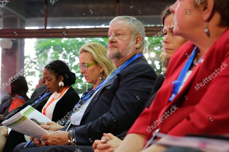 Us Philanthropist David Rockefeller Jr (c) Follows Proceedings During the Official Opening Ceremony of the Sixth African Green Revolution Forum in Nairobi Kenya 07 September 2016 the 2016 African Green Revolution Forum (agrf) Aims to Advance the Policies and Secure the Investments That Will Ensure a Better Life For Millions of Africas Farmers and Familiesand Realize the Vision of the Sustainable Development Goals (sdgs) Kenya Nairobi