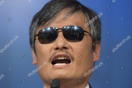 Stock Photo of Chinese Activist Chen Guangcheng Visiting Fellow at Catholic University Delivers Remarks During a Discussion Entitled 'The Deteriorating State of Human Rights in China' at the Cato Institute in Washington Dc Usa 23 November 2015 According to the Cato Institute the Discussion Focused on what Activists Are Calling the Deterioration of Human Rights Under the Rule of Current Chinese President Xi Jinping United States Washington