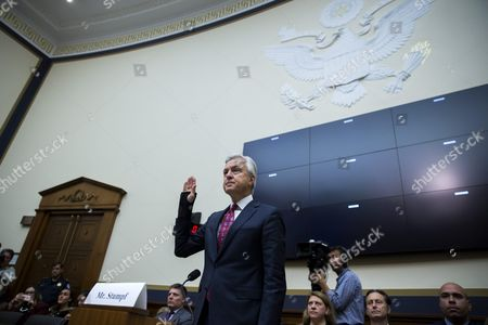 Chairman and Ceo of the Wells Fargo & Company John Stumpf is Sworn in Prior to Testifying Before the House Financial Services Committee Hearing on 'Holding Wall Street Accountable: Investigating Wells Fargo's Opening of Unauthorized Customer Accounts ' Capitol Hill in Washington Dc Usa 29 September 2016 the State Treasurer of California is Suspending Large Parts of the State's Business with Wells Fargo Due to the Scandal Involving Unauthorized Customer Accounts United States Washington