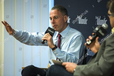 Devin Wenig (l) President and Ceo of Ebay and Steve Clemons (r) Washington Editor-at-large at the Atlantic Hold a Discussion on 'The Disruptive Role of Data and Technology in Global Trade and Business' at the Watergate in Washington Dc Usa 29 April 2016 United States Washington