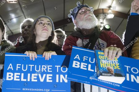 Supporters Listen to Democratic Presidential Candidate Bernie Sanders Speak During a Rally at Daniel Webster Community College in Nashua New Hampshire Usa 08 February 2016 the New Hampshire Primary Will Be Held on 09 February 2016 United States Nashua