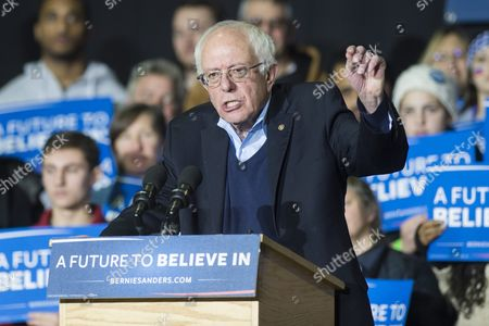 Democratic Presidential Candidate Bernie Sanders Speaks During a Rally at Daniel Webster Community College in Nashua New Hampshire Usa 08 February 2016 the New Hampshire Primary Will Be Held on 09 February 2016 United States Nashua