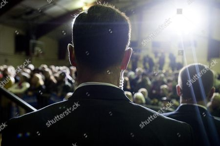 Agents of the Us Secret Service Look out Into the Crowd As Democratic Presidential Candidate Bernie Sanders (not Pictured) Speaks During a Rally at Daniel Webster Community College in Nashua New Hampshire Usa 08 February 2016 the New Hampshire Primary Will Be Held on 09 February 2016 United States Nashua
