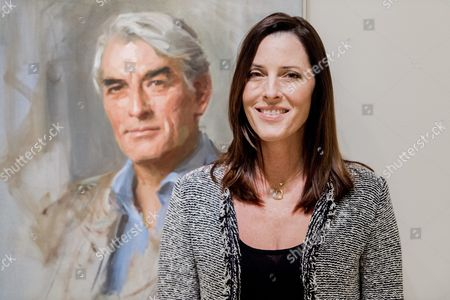 Us Film Producer Director and Actress Cecilia Peck Stands in Front of a Portrait of Her Late Father Actor Gregory Peck Painted by Everett Raymond Kinstler and Displayed at the Smithsonian National Portrait Gallery in Washington Dc Usa 04 April 2016 the Portrait is Being Exhibited to Commemorate the 100th Anniversary of the Birth of Gregory who was Born 05 April 1916 in La Jolla California United States Washington
