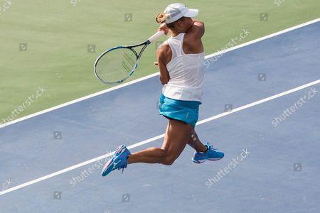 Yulia Putintseva of Kazakhstan in Action Against Yanina Wickmayer of Belgium During Their Semifinals Match of the Citi Open Tennis Tournament at Rock Creek Park Tennis Center in Washington Dc Usa 23 July 2016 United States Washington