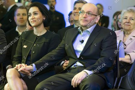 Freed 'Washington Post' Journalist Jason Rezaian (r) and His Wife Yeganeh Salehi (l) Listen to Remarks by Us Secretary of State John Kerry (not Pictured) at an Event Celebrating the New Location of the 'Washington Post' in Washington Dc Usa 28 January 2016 Rezaian who was Freed This Month After 545 Days in an Iranian Prison Thanked His Colleagues For Keeping His Story Alive and Us Diplomats For Seeking His Release at a Ceremony Marking the Opening of the Newspaper's New Offices in Washington Rezaian Thanked His Journalist Colleagues For the 'Lengths You Went to Keep My Story Alive' and Us Secretary of State John Kerry and Diplomat Brett Mcgurk who Negotiated His Release United States Washington