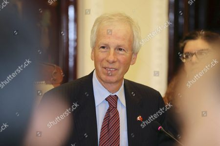 Canadian Foreign Minister Stephane Dion Talks to Vietnamese Foreign Minister Pham Binh Minh (not Pictured) During Their Meeting at the Government Guesthouse in Hanoi Vietnam 05 September 2016 Dion is on an Official Visit to Vietnam From 03 to 08 September 2016 Viet Nam Hanoi