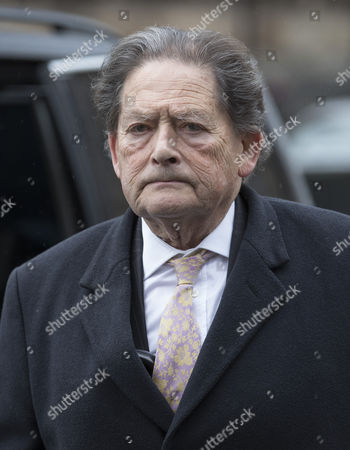 Lord Lawson arrives at The House of Lords. The Lords are voting on an amendment to the government's Brexit bill today