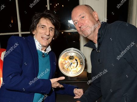 Stock Picture of Ronnie Wood and Ken Lawrence