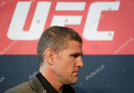 Daniel Kelly, of Australia, speaks with the media during a news conference for UFC 209, in Las Vegas. Kelly is scheduled to battle Rashad Evans in a mixed martial arts middleweight fight Saturday in Las Vegas