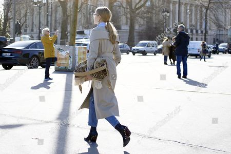 Editorial picture of Street Style, Day 3, Autum Winter 2017, Paris Fashion Week, France - 02 Mar 2017
