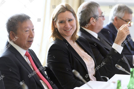 International Olympic Committee (ioc) Members Angela Ruggiero Center of Us and Ser Miang Ng Left of Singapore at the Opening of the First Day of the Executive Board Meeting of the International Olympic Committee (ioc) in Lausanne Switzerland Tuesday December 6 2016 Switzerland Schweiz Suisse Lausanne