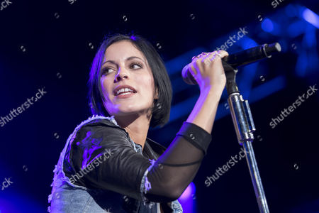 German Singer Stefanie Kloss Performs on Stage with Her German Band Silbermond at the Baloise Session in Basel Switzerland 08 November 2016 Switzerland Schweiz Suisse Basel