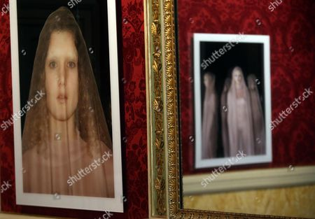 Stock Picture of The Pictures by Italian-british Photographer Vanessa Beecroft During the Exhibition 'Polaroids 1993 2016' in Reale Palace in Milan Italy 23 November 2016 the Exhibition Runs From 24 to 29 November 2016 Italy Milan