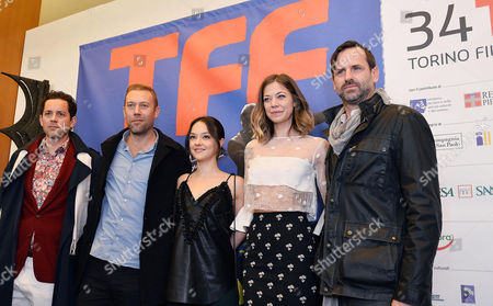 The Cast of Sadie (l-r) Valentin Merlet Jakob Cedegren Marta Gastini Analeigh Tipton and Craig Goodwill Poses For Photos at the 34th Edition of the Torino Film Festival in Torino Italy 19 November 2016 Italy Torino