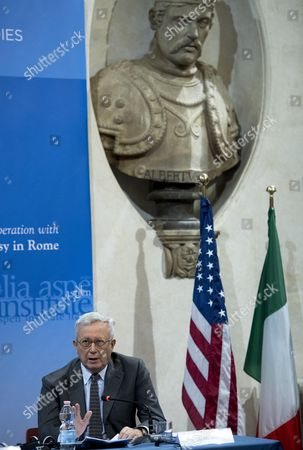 Giulio Tremonti Chairman of Aspen Institute Italy During the International Workshop 'Post-election America: Political and Economic Challenges' at Center For American Studies in Rome Italy 02 December 2016 Italy Rome