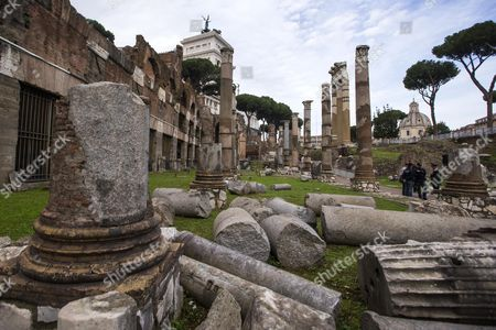A View of the Archaeological Area of the Imperial Forums on the Day of Its Reopening to the Public Rome Italy 24 November 2016 the Imperial Forums in Rome Built by Emperors Including Augustus Trajan and Hadrian As Well As Julius Caesar Open to Daytime Guided Tours in the Wake of Similar Illuminated Evening Summertime Tours Introduced by Former Rome Mayor Ignazio Marino Italy Rome (italy)