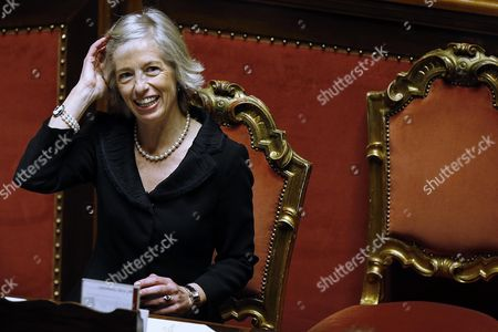Stock Photo of Italian Education Minister Stefania Giannini During a Confidence Vote on the 2017 Budget Bill in the Senate Rome Italy 07 December 2016 the 2017 Budget Bill Became Law on 07 December when It was Passed by the Senate with 166 Votes in Favour 70 Against and One Abstention Premier Matteo Renzi Said He Would Tender His Formal Resignation to President Sergio Mattarella at 19:00 Local Time After the 2017 Budget was Approved Earlier in the Day Italy Rome