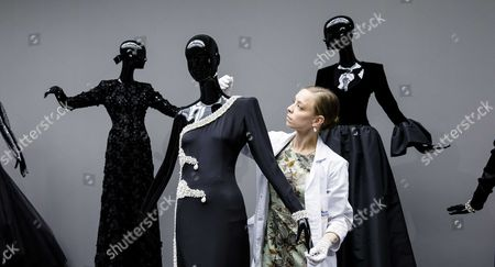 Photo Made Available 25 November 2016 Showing Creations by French Fashion Designer Hubert De Givenchy Being Prepared For the Exhibition 'To Audrey with Love' at the Gemeentemuseum in the Hague the Netherlands 23 November 2016 the Exhibition Opens 25 November and Presents a Retrospective of the Designer's Work Netherlands the Hague