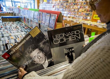 A Record of Leonard Cohen at a Recordstore in the Haue the Netherlands 11 November 2016 Leonard Cohen Has Died Aged 82 on 10 November 2016 Netherlands the Hague