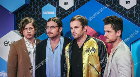 Members of Us Band Kings of Leon (l-r) Matthew Followill Nathan Followill Caleb Followill and Jared Followill Arrive at the Mtv Europe Music Awards (emas) 2016 at the Ahoy Rotterdam in Rotterdam Netherlands 06 November 2016 Netherlands Rotterdam