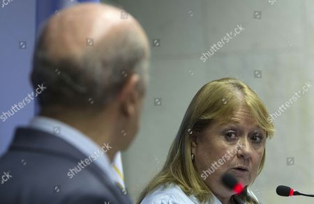 Stock Picture of Brazilian Foreign Minister Jose Serra (l) and His Argentinian Counterpart Susana Malcorra Speak During a Joint Press Conference at the Iramarati Palace in Brasilia Brazil 08 December 2016 Argentina Will Take on the Rotating Presidency of the Mercosur Next 01 January Without the Traditional Presidential Summit As Announced by Malcorra Brazil Brasilia