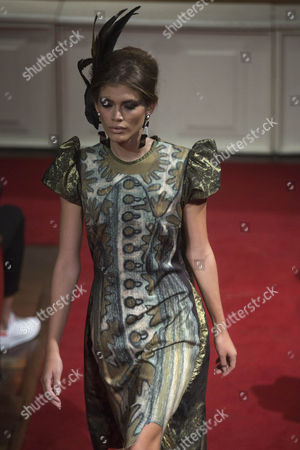 Brazilian Transgender Model Valentina Sampaio Presents a Creation From Designer Ronaldo Fraga During a Fashion Show at Sao Paulo Fashion Week in Sao Paulo Brazil 26 October 2016 the Brand Included 28 Transgender Models For the Show Brazil Sao Paulo