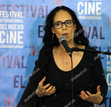 Brazilian Actress Sonia Braga Speaks During a Press Conference at the 38th Edition of the International Festival of New Latin American Cinema in Havana Cuba 11 December 2016 Cuba Havana