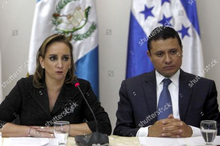 Secretary of Foreign Affairs of Mexico Claudia Ruiz Massieu (l) Speaks Next to Her Guatemalan Counterpart Carlos Raul Morales (r) During a Meeting in Guatemala City Guatemala 21 November 2016 the Northern Triangle Countries of Central America and Mexico Agreed to Join Efforts to Ensure the Rights of the Migrant Population in the United States After Us President-elect Donald Trump Announced the Deportation of Reportedly Around 3 Million Undocumented Workers Guatemala Guatemala City