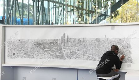 Editorial image of Mexico Art Stephen Wiltshire - Oct 2016