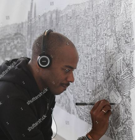 Editorial photo of Mexico Art Stephen Wiltshire - Oct 2016