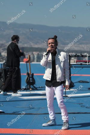 Ruben Albarran Singer of the Mexican Rock Band Cafe Tacuba Performs at the Top of a Building in Mexico City Mexico 01 December 2016 the New Album of the Band Will Be Launched in 2017 Mexico Mexico City