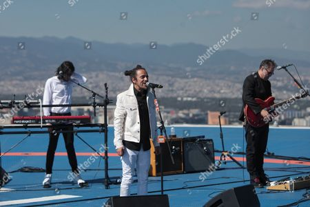 Mexican Rock Band Cafe Tacuba Performs at the Top of a Building in Mexico City Mexico 01 December 2016 the New Album of the Band Will Be Launched in 2017 Mexico Mexico City