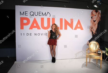 Mexican Singer Paulina Rubio Poses During Presentation of Her New Album 'Me Quema (lit It Burns Me)' in Mexico City Mexico 07 November 2016 Mexico Mexico City