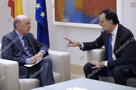 Spanish Prime Minister Mariano Rajoy (r) Meets Brazilian Foreign Minister Jose Serra (l) at the Moncloa Presidential Palace in Madrid Spain on 22 November 2016 Spain Madrid