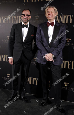 Us Ambassador in Spain James Costos (l) and His Husband Michel Smith (r) Pose at Their Arrival to the Celebration of the Vanity Fair 100 Number Held at the Fine Arts of the Royal Academy of San Fernando in Madrid Spain 22 November 2016 Spain Madrid