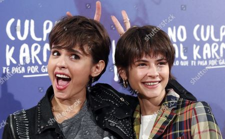 Spanish Actresses and Cast Members Veronica Echegui (l) and Alba Galocha Pose During the Presentation of 'No Culpes Al Karma De Lo Que Te Pasa Por Gilipollas' (don't Blame the Karma For Being an Idiot) in Madrid Spain 08 November 2016 the Movie Based on Laura Norton's Homonymous Novel Will Be Premiered on 11 November Spain Madrid