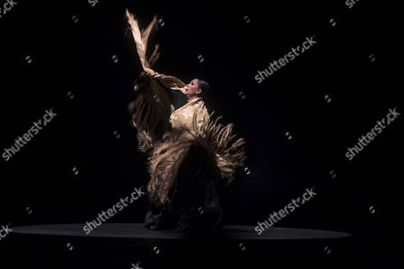 Stock Photo of Spanish Flamenco Dancer Eva Yerbabuena Performs on Stage at Gran Teatro in Cordoba Spain 18 November 2016 Presenting Her Latest Performance 'Apariencias' Spain Cordoba