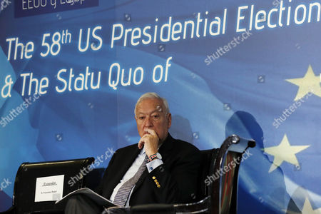 Spanish Acting Foreign Minister Jose Manuel Garcia-margallo Attends a Seminar on the Relationship Between the European Union and United States in Madrid Spain 27 October 2016 Spain Madrid