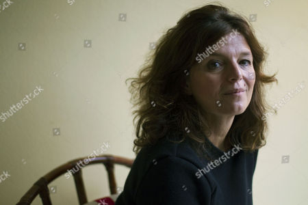 Stock Picture of French Writer Maylis De Kerangal Poses For the Photographer During the Presentation of Her Latest Novel 'Lampedusa' in Barcelona Spain 21 November 2016 Spain Barcelona