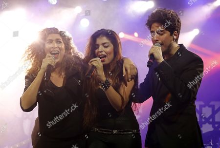 Children of Deceased Flamenco Singer Enrique Morente (l-r) Estrella Solea and Jose Enrique Perform on Stage During the 20th Anniversary of the Album 'Omega' Recorded by Their Father with Spanish Band 'Lagartija Nick' at La Riviera Auditorium in Madrid Spain 2 December 2016 Enrique Morente Died in 2010 at the Age of 67 Spain Madrid