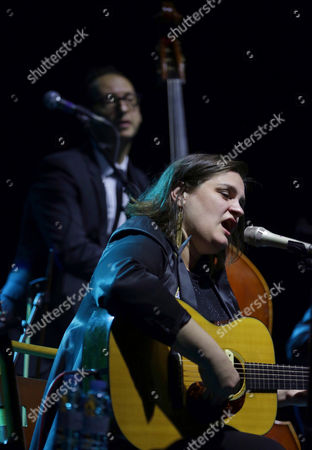 Us Singer Madeleine Peyroux Performs on Stage During the Concert Held at Zaragoza's Auditorium on the Ocassion of the 33th Jazz Festival in Zaragoza Spain 24 November 2016 to Present Her Latest Work 'Secular Hymns' Spain Zaragoza