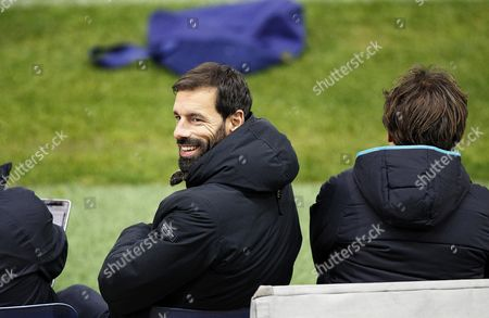 Psv Eindhoven's Youth Coach Ruud Van Nistelrooy Attends His Team's Training Session at Vicente Calderon Stadium in Madrid Spain 22 November 2016 Psv Eindhoven Will Face Atletico Madrid in the Uefa Champions League Group D Soccer Match on 23 November 2016 Spain Madrid