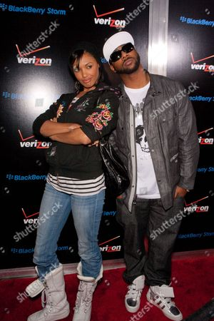 Stock Photo of K.D. Aubert and guest