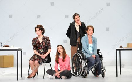 'The Stone' -  Justine Mitchell (Mieze), Loo Brealey (Hannah), Linda Bassett (Witha) and Helen Schlesinger (Heidrun)