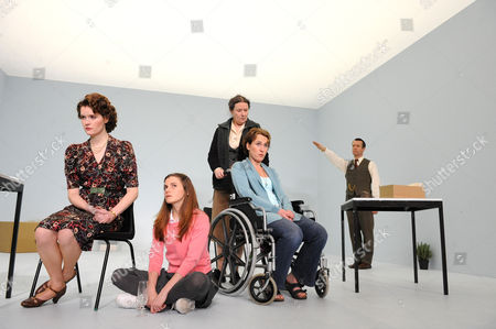 'The Stone' -  Justine Mitchell (Mieze), Loo Brealey (Hannah), Linda Bassett (Witha),  Helen Schlesinger (Heidrun) and Jonathan Cullen (Wolfgang)