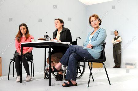 'The Stone' -  Loo Brealey (Hannah),  Linda Bassett (Witha), Helen Schlesinger (Heidrun) and Jonatahn Cullen (Wolfgang)